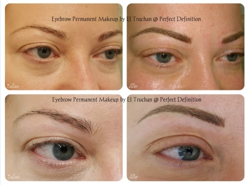 Microblading and Permanent Makeup Eyebrows By El Truchan @ Perfect Definition