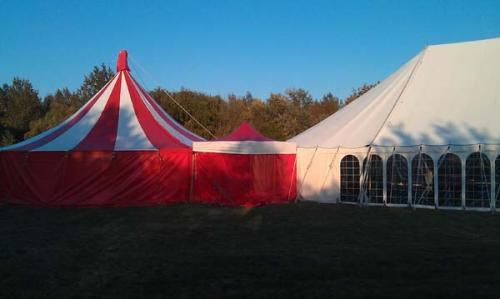 party tent linked to meal tent