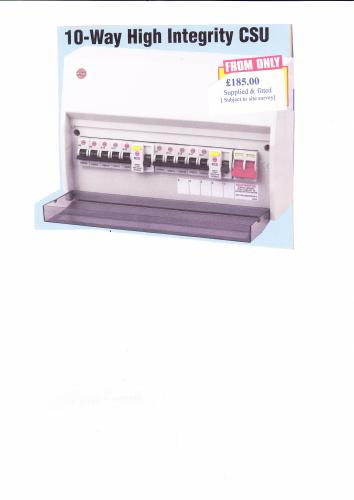 Consumer Units changed - From £180