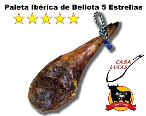 SPANISH JAMON IBERICO DE BELLOTA 5KG SPANISH IBERIAN HAM ACORN 5 STARS. 24 MONTHS CURED.