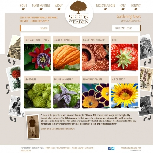 Seeds of Eaden - Ecommerce Web Design