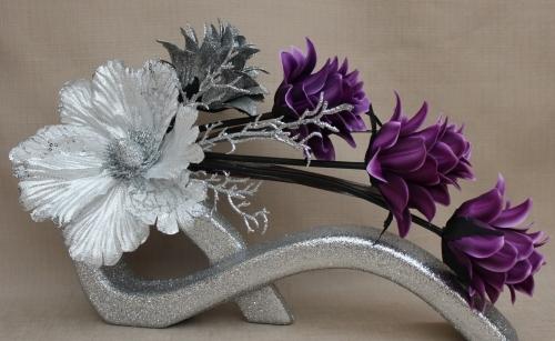 Artificial Flowers Purple Tulips
