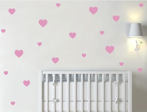 Heart Wall Decor Decals Pink