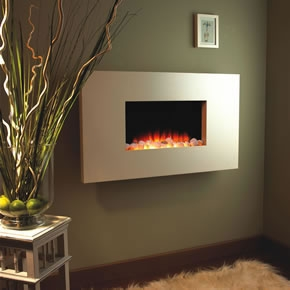 Flamerite Quarella hole in the wall electric fire in stone finish