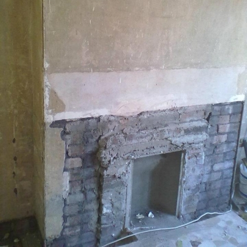 Chimney Breast Before