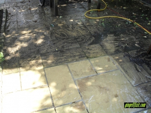 Pressure Washing Before
