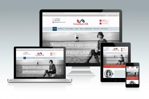 Concilium HR Custom Built Website Design