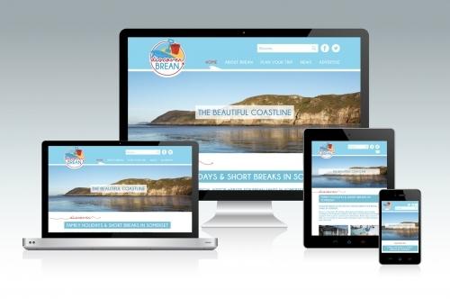 Discover Brean Tourism Website Design and Development