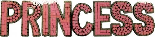 Princess Word Pink 86 X 20cm