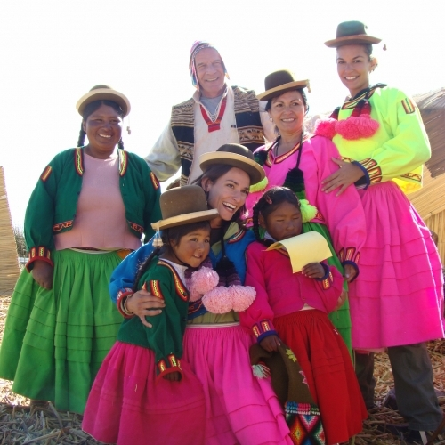 Hanging out with the Uros people on the floating islands of Lake Titicaca, Peru