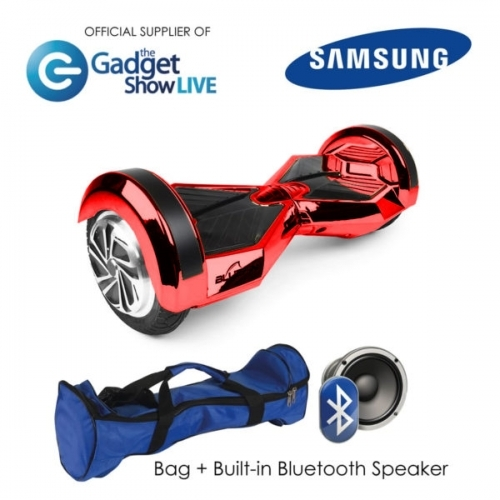 "8"" Red Chrome Hoverboard Swegway"