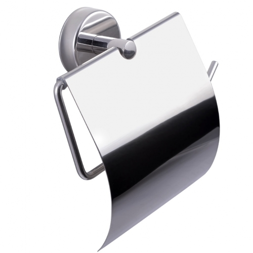 Toilet Roll Holder with Cover Stainless Steel