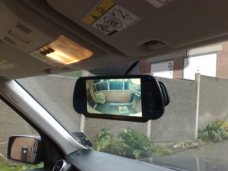 Mirror Screen in a Ranger-Rover