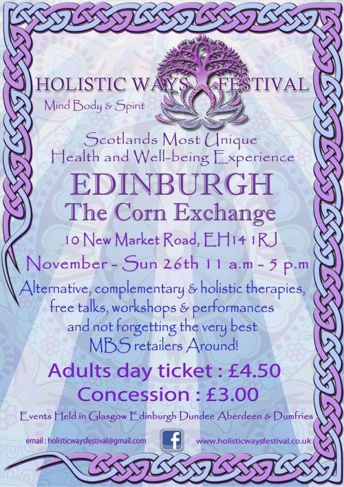 Holistic Ways Festival Edinburgh