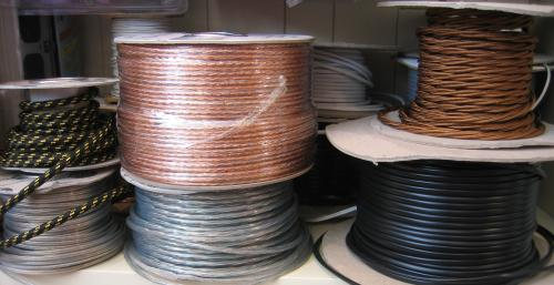 We sell a wide variety of cables by the meter, including braided antique style.