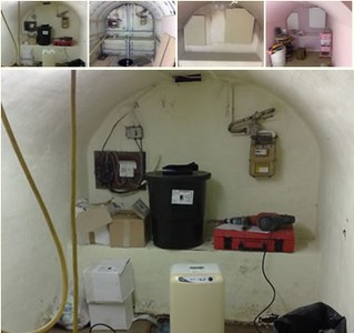 This is a cellar with a vaulted ceiling before we had started through to when it was completed.