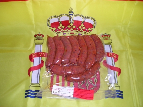 SPANISH IBERIAN CHORIZO MILD IN 1KG BAG FOR COOKING OR GRILLED. 10 TO 12 CHORIZOS IN THE BAG.