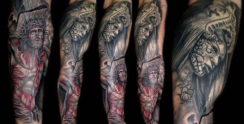 Jesus Vs Evil Religious tattoo