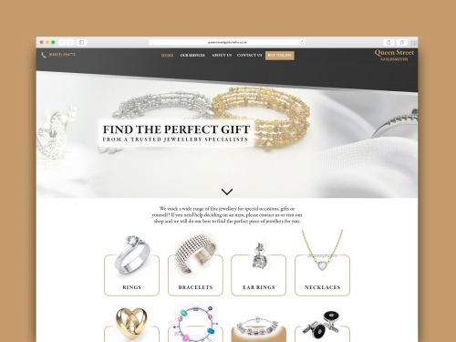 Queen Street Goldsmiths Website Design