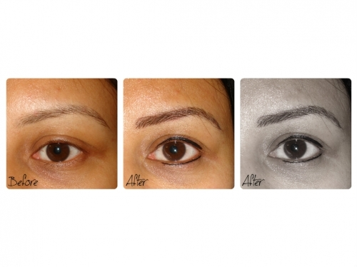 Semi Permanent Eyebrows and Natural Eyeliner By El Truchan