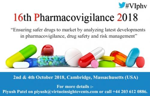 16th Pharmacovigilance 2018