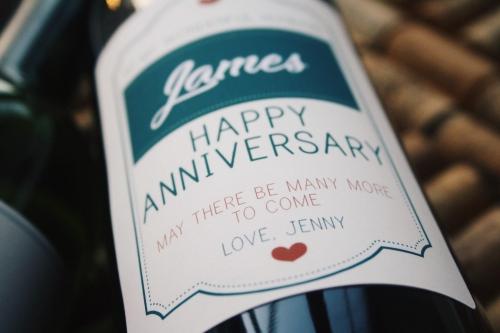 Personalised Wine - Anniversary