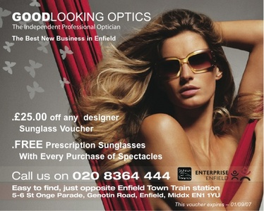 Optician in Enfield that likes to look good. Always good offers
