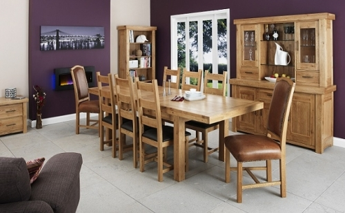 Manor Solid Light Oak Dining and Living Room Furniture