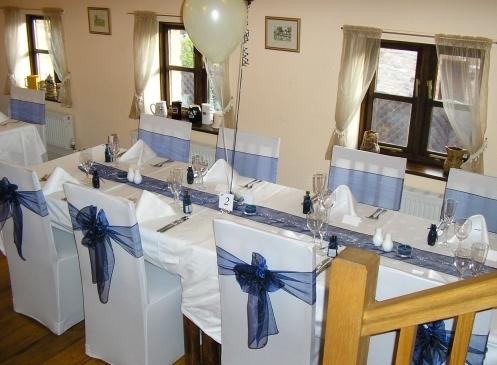 Wedding Party table arrangements
