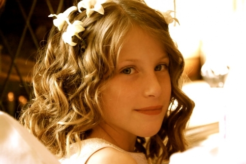 flower girl curls