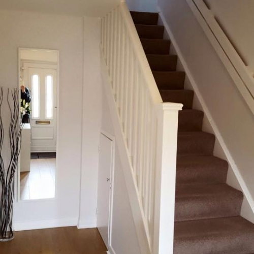 Stairs - Reinstating previously removed stair with new post, handrail and spindles