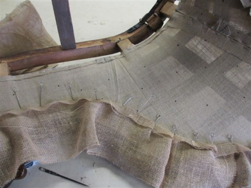 Chaise longue - Preparation for puffed edges