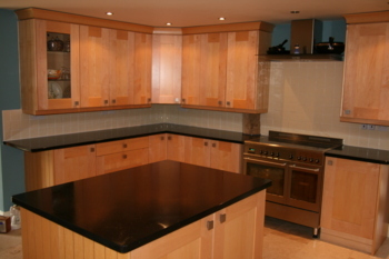 Kitchen makeover with new sink and granite worktops.Granite worktop makeover Bucks Buckinghamshire