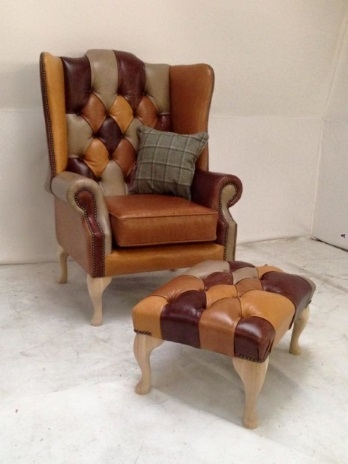 Leather, Chesterfield Style Armchair