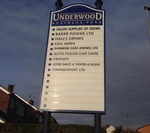 Crewe Underwood Lane Busines Park