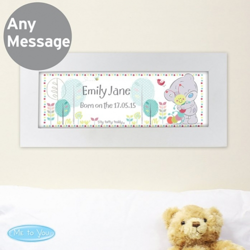 Personalised tiny tatty teddy name frame.