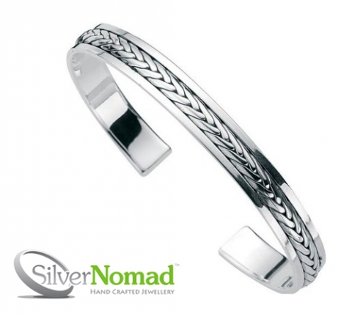 925 Sterling Silver Nomad Smooth Eternal Bangle