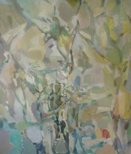 "Stephen Spicer PHD ARCA ""Figure in a Landscape"" Oil on Canvas 137cmx80cm £2,500"