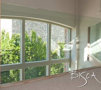 Bespoke Glass Barn Balustrade by Bisca