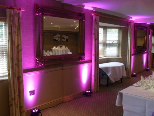 Up-lighting service available from www.essexweddingdjs.co.uk