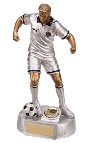 Silver Male Football Trophy