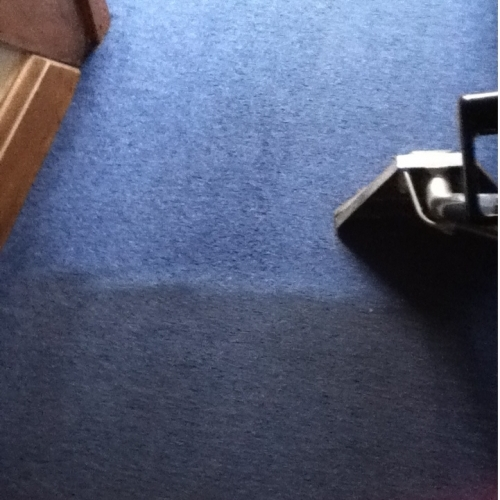See the difference with this Hall carpet cleaned recently