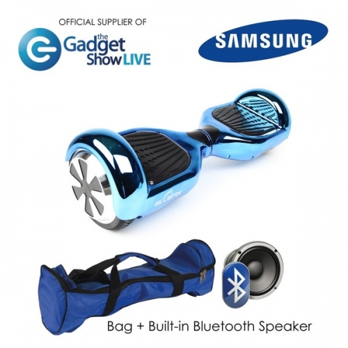 6.5 INCH CLASSIC HOVERBOARD SWEGWAY IN CHROME BLUE