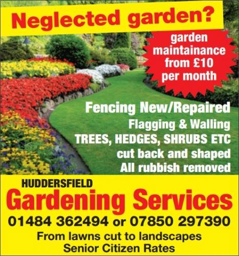 Huddersfield gardening services gardening services in for Local gardening services
