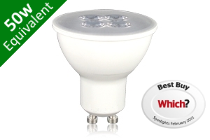 GU10 SMD 5.3W (50W Replacement) LED White Base Spotlight - Which? Best Buy