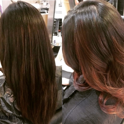 Soft Red Balayage