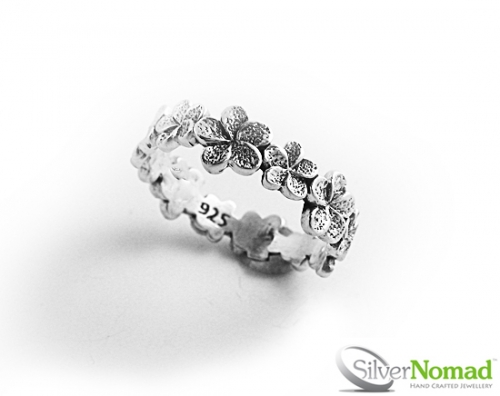 925 Sterling Silver Nomad Flower Chain Band