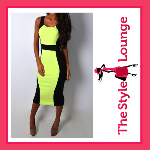 Gretchen Lime Illusion Bodycon Dress