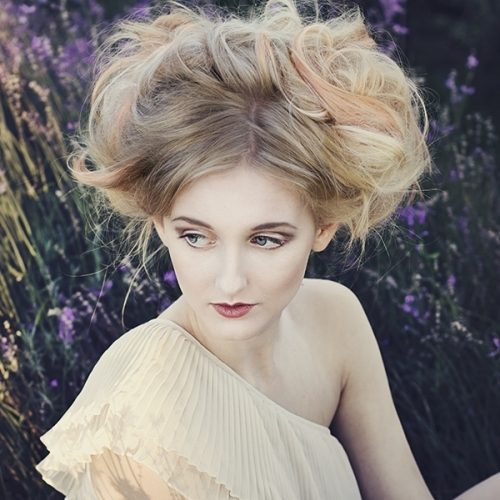 Vintage Lavender Hair up