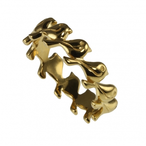 Golden Flock Ring by Jana Reinhardt